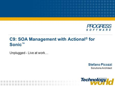 C9: SOA Management with Actional® for Sonic™