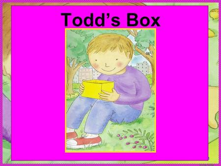 Anne Miller pp1 Todds Box. Anne Miller Paula Sullivan is the author. Nadine Bernard Westcott is the illustrator. Author writes the stories. Illustrated.