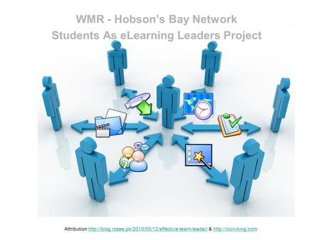 WMR - Hobsons Bay Network Students As eLearning Leaders Project Attribution  &