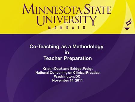 Co-Teaching as a Methodology in Teacher Preparation