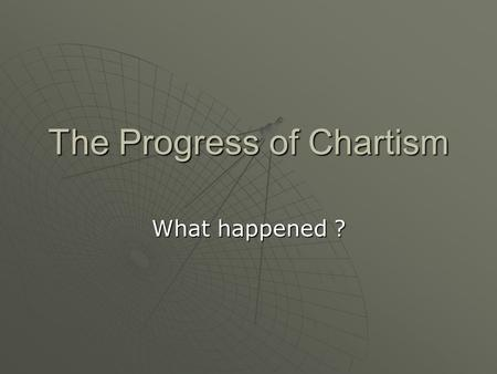 The Progress of Chartism What happened ?. Lesson Objectives To understand the progress of Chartism To understand the progress of Chartism To identify.