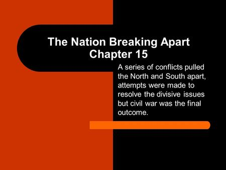 The Nation Breaking Apart Chapter 15