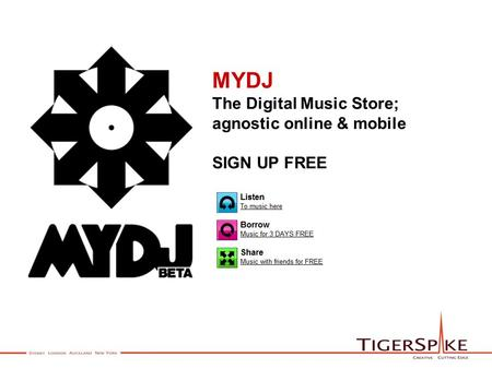 MYDJ The Digital Music Store; agnostic online & mobile SIGN UP FREE.