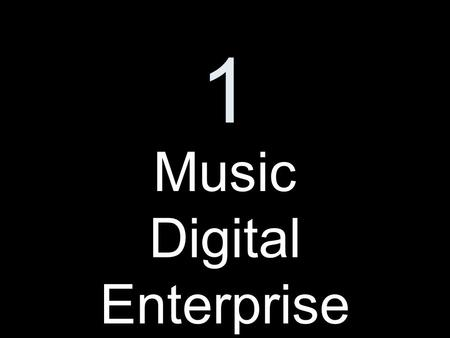1 Music Digital Enterprise. 2 Product Description.