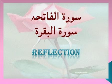Reflection nurulquran.com.