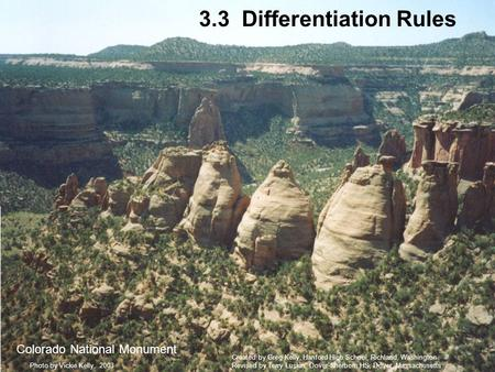 3.3 Differentiation Rules