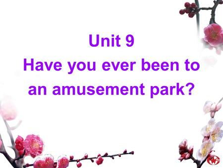 Unit 9 Have you ever been to an amusement park?