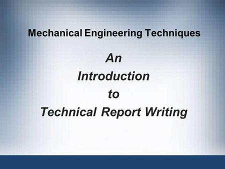 Mechanical Engineering Techniques
