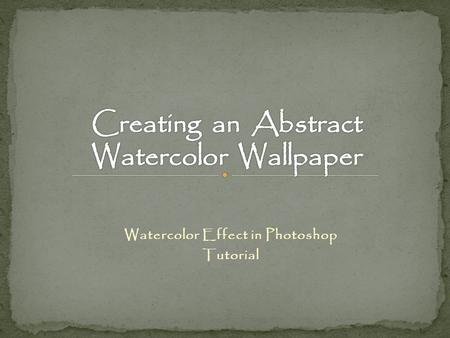 Watercolor Effect in Photoshop Tutorial. Go to the File, click the Open tab and set your canvas of 1920 X 1200 pixels, in RGB mode.