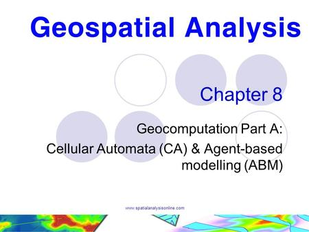 Chapter 8 Geocomputation Part A: