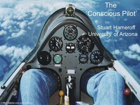 The 'Conscious Pilot' Stuart Hameroff University of Arizona.