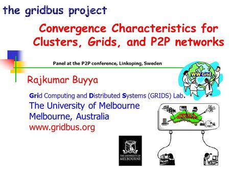Convergence Characteristics for Clusters, Grids, and P2P networks