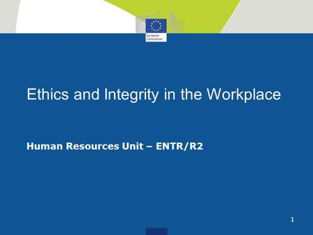 Ethics and Integrity in the Workplace
