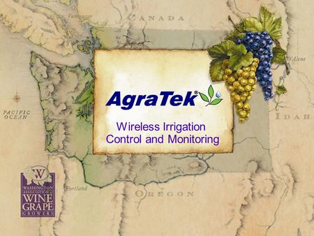 Click to edit Master subtitle style Wireless Irrigation Control and Monitoring.
