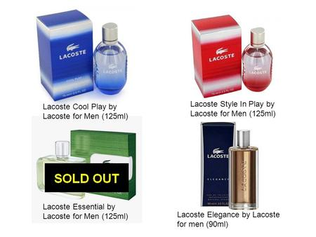 Lacoste Style In Play by Lacoste for Men (125ml)