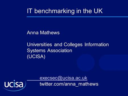 IT benchmarking in the UK