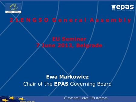 Chair of the EPAS Governing Board