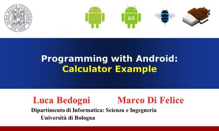 Programming with Android: Calculator Example