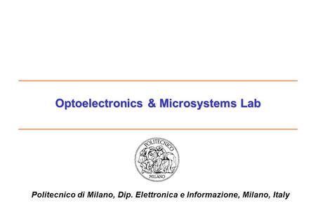 Optoelectronics & Microsystems Lab