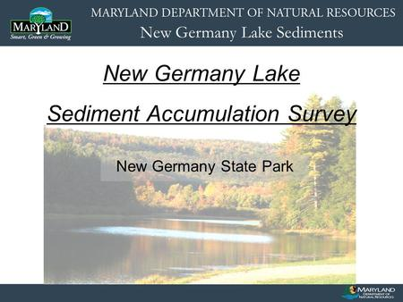New Germany Lake Sediments New Germany State Park New Germany Lake Sediment Accumulation Survey.