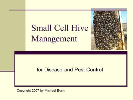 for Disease and Pest Control