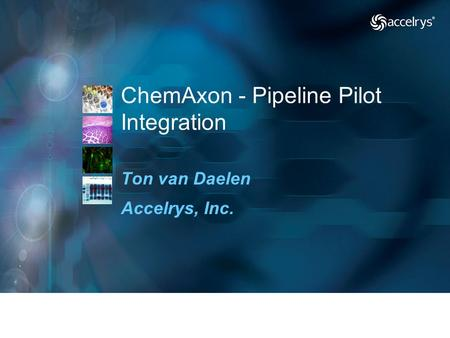 ChemAxon - Pipeline Pilot Integration