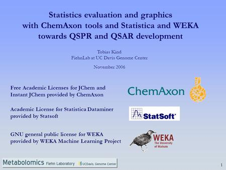 Statistics evaluation and graphics