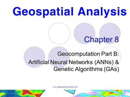 Chapter 8 Geocomputation Part B: