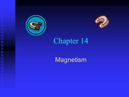 Chapter 14 Magnetism.