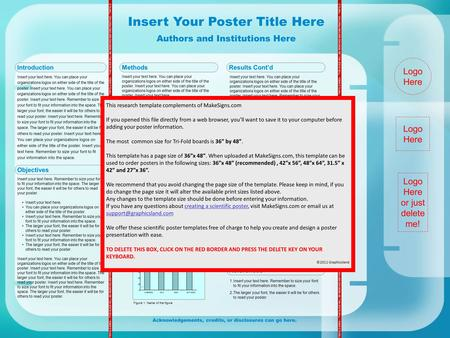 Insert Your Poster Title Here Authors and Institutions Here TRIFOLD AREA – THIS GUIDE WILL BE REMOVED BEFORE PRINTING – TRIFOLD AREA – THIS GUIDE WILL.