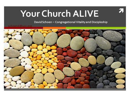 Your Church ALIVE David Schoen – Congregational Vitality and Discipleship