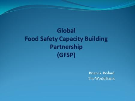 Global Food Safety Capacity Building Partnership (GFSP)