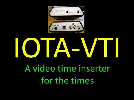A video time inserter for the times