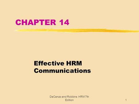 Effective HRM Communications