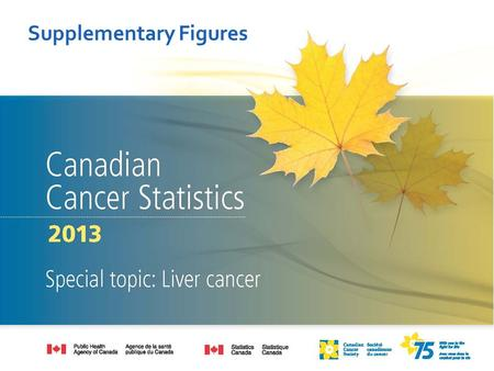 Supplementary Figures. Data source: Canadian Cancer Statistics 2013.