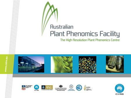Notes for teachers This presentation has been designed to complement the information provided in the Plant Phenomics Teacher Resource. Some of the slides.