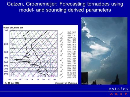 Importance of sounding information doing convective forecasts