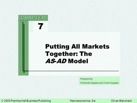 Putting All Markets Together: The AS-AD Model