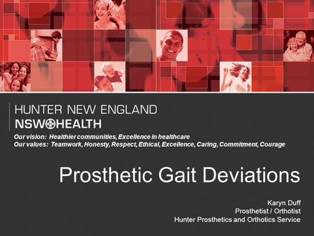 Prosthetic Gait Deviations