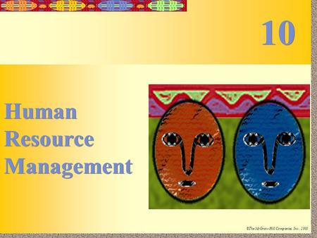 10 Human Resource Management.