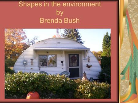 Shapes in the environment by Brenda Bush