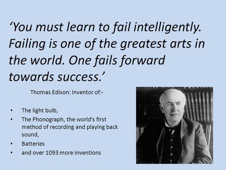 Thomas Edison: Inventor of:-