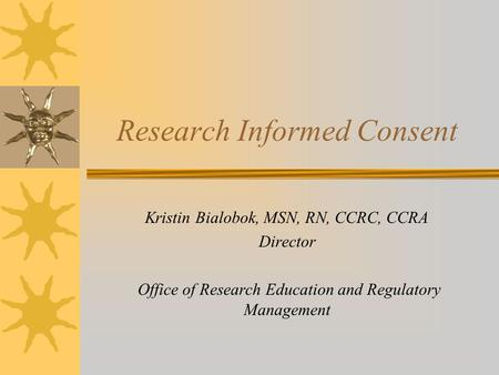 Research Informed Consent