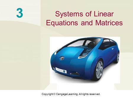 3 Systems of Linear Equations and Matrices