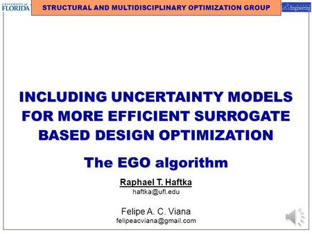 STRUCTURAL AND MULTIDISCIPLINARY OPTIMIZATION GROUP