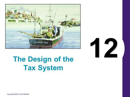 Copyright©2004 South-Western 12 The Design of the Tax System.