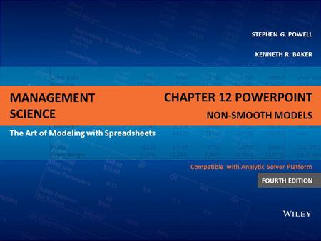 Chapter 12 PowerPoint Non-smooth Models.