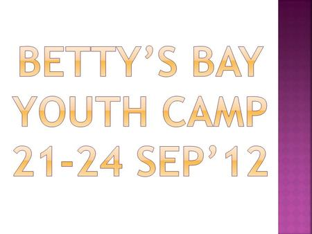 Betty's Bay Youth Camp Sep'12