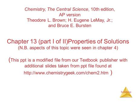 Chemistry, The Central Science, 10th edition, AP version