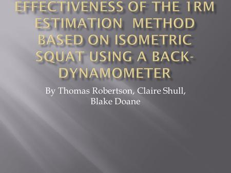 By Thomas Robertson, Claire Shull, Blake Doane.  Until now, the direct measurement technique or the indirect measurement technique has been used to detect.